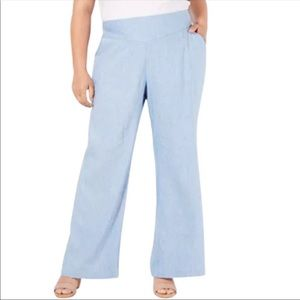 NEW INC International Concepts Chambray Pants 8